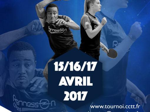 Affiche du tournoi de Pâques CCTT 2017